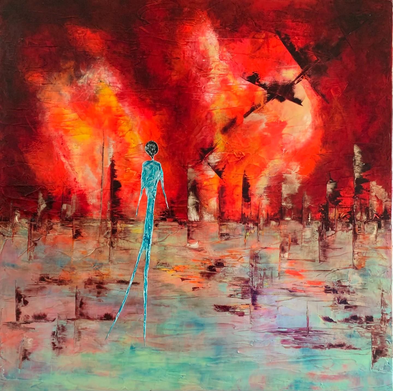 Anne Sophie Vieren - Solitude... Artiste peintre Nantes