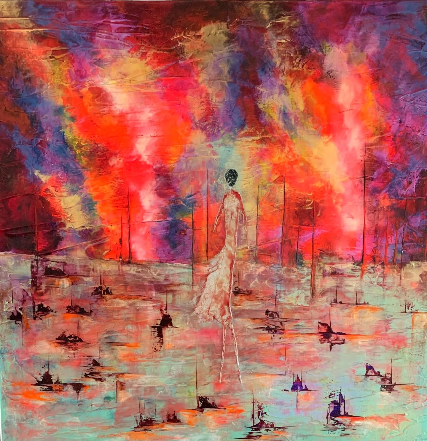 Anne Sophie Vieren - Solitude... pendant femme Artiste peintre Nantes
