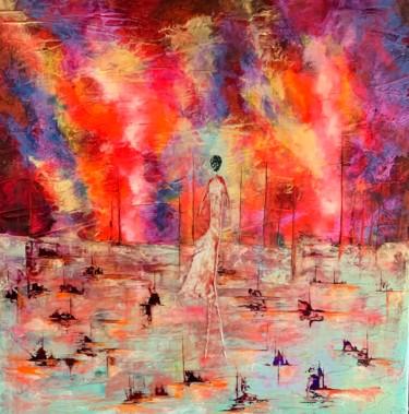 Solitude ... femme - Artiste peintre Nantes Vide atelier