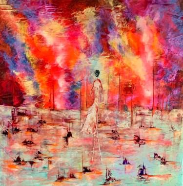 Solitude pendant femme ... artiste peintre Nantes